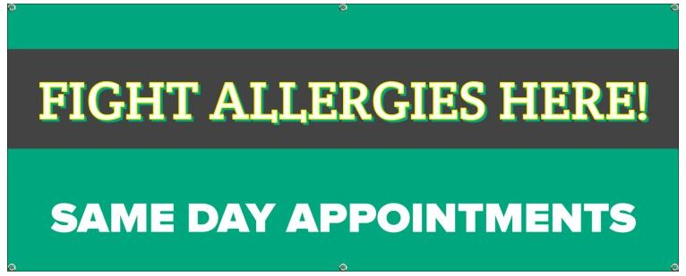 Fight Allergies Here! Same Day Appointments!